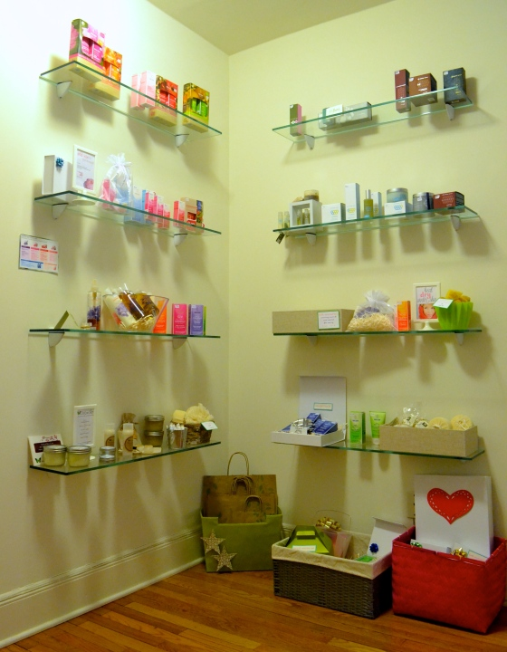 product shelves